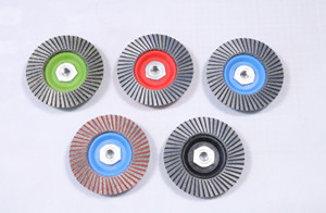 Diamond & CBN Flap Disc and hand pads for the coating